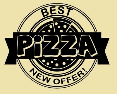 Cocina creativa pared del vinilo de la Pizza italiana Pizzeria comida rápida…