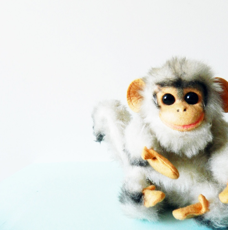 1960s Poseable Stuffed Monkey