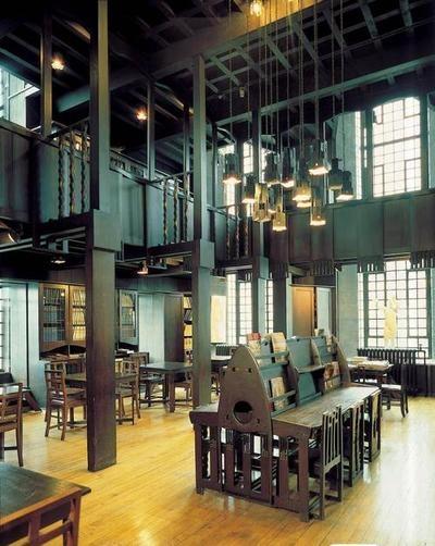 Charles Rennie Mackintosh, 1897-1910. Library of the Glasgow School of Art.
