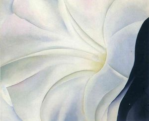 Morning Glory with Black - (Georgia O'keeffe)