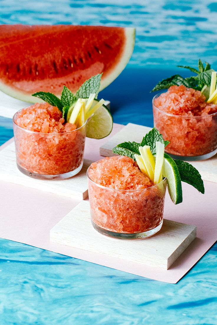 Spicy Watermelon Mint and Lime Granita via Artful Desperado