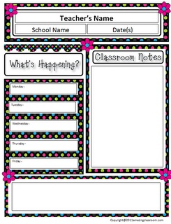 Classroom Newsletter Template  Free