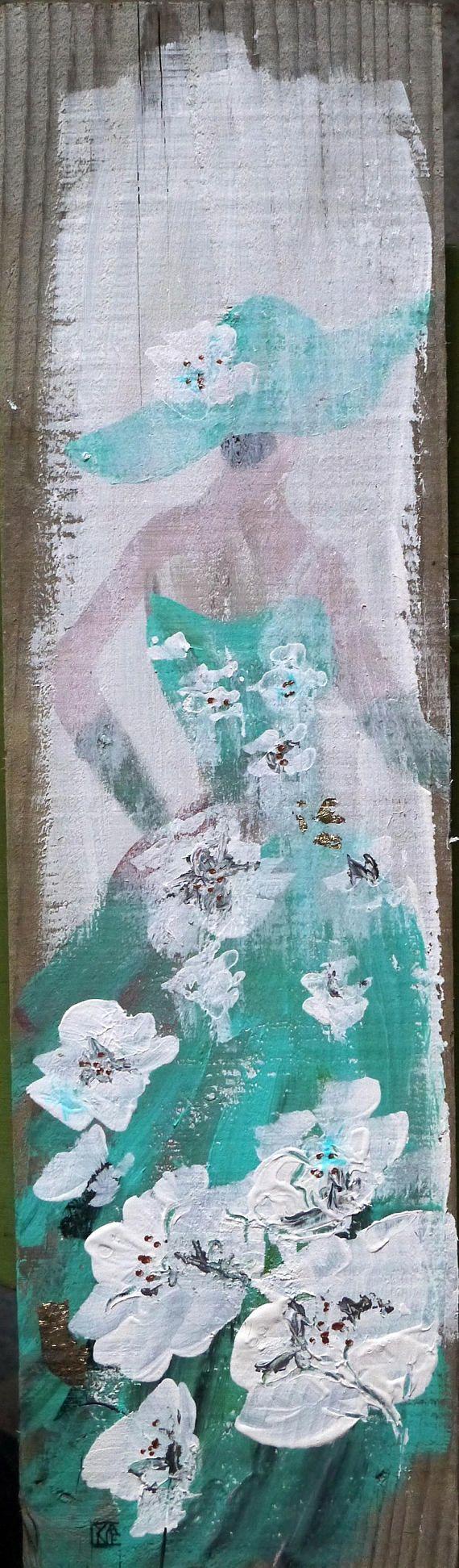 tableau contemporain acrylique sur bois art contemporain