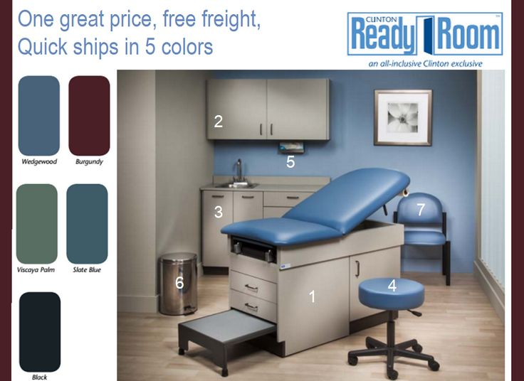 The Clinton Ready Room features 7 typical items needed for your Medical office. Quick ships in a few weeks. Ships Free Freight. Offered on Sale as a Great + value The best and most affordable way to q