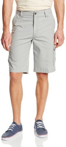 $65, Grey Shorts: Oakley Discover Cargo Short. Sold by Amazon.com. Click for more info: https://lookastic.com/men/shop_items/22717/redirect