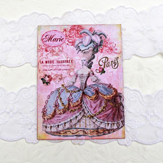 Marie Antoinette  Note cards Birthday Paris by EnchantedQuilling