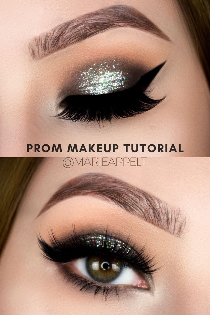 Prom Makeup Look, Too Faced Chocolate Bar Palette Makeup Tutorial, Holographic, Holo, Glitter , Smokey Eye, Step by Step, Paso a Paso, How to, easy , beginners , silver glitter, green glitter, holographic glitter makeup tutorial, marie appelt