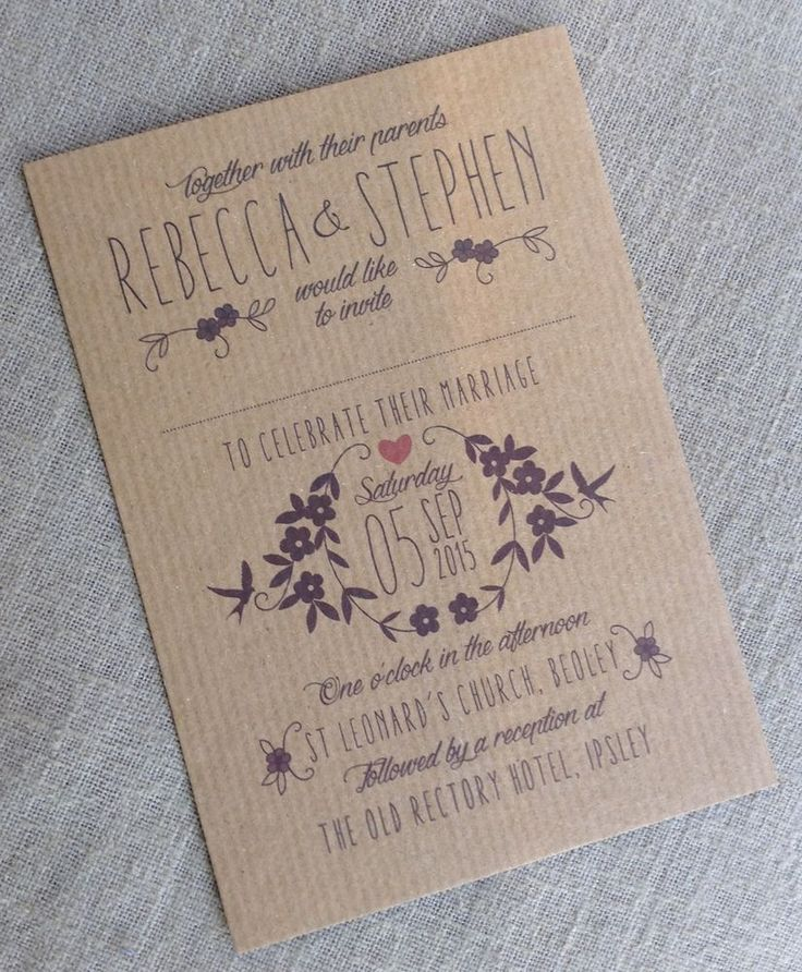 32 best rustic kraft wedding invitations images on pinterest