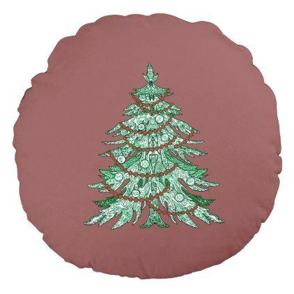 christmas tree round pillow christmas idea gift idea diy unique special merry xmas family holidays christmas idea pinterest round pillow