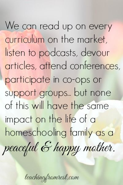 The most important part of your homeschool...
