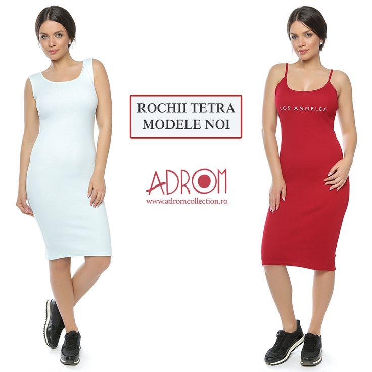 Noi modele de rochii tetra din bumbac au sosit la Adrom Colection. Comandă și tu acum pentru magazinul tău. http://www.adromcollection.ro/3-rochii