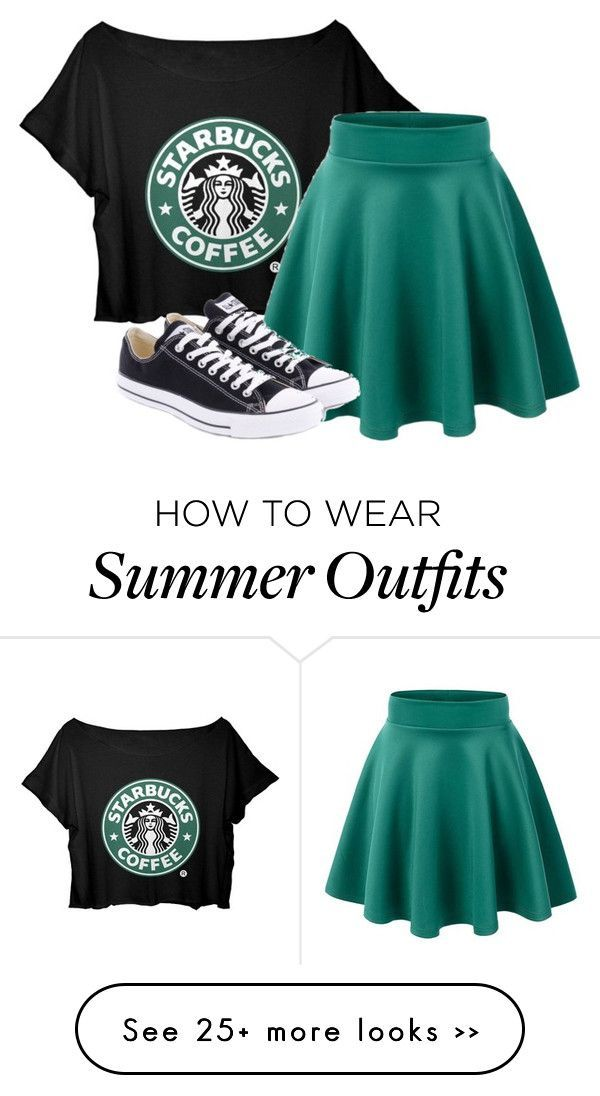 "Awesome Collection Of Summer Styles    ""Starbucks outfit"" by loving-penguin on Polyv…"