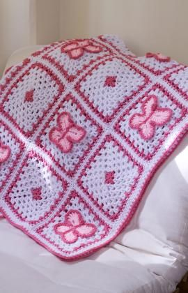 Crochet Butterfly Throw Crochet Pattern | Red Heart - I need to