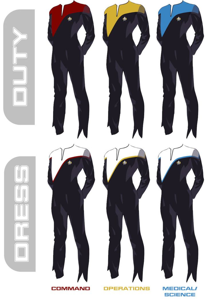 Concept for 25th Century based Star Trek show Starfleet Uniforms. Description from deviantart.com. I searched for this on bing.com/images