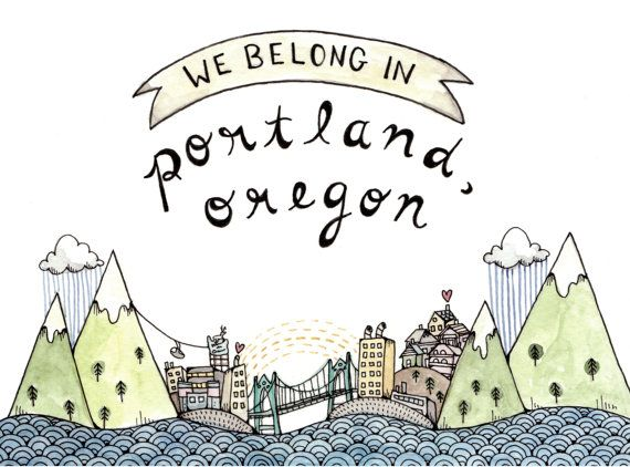 We belong in portland print 5x7