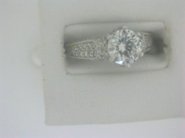 14KT WHITE GOLD .75CT CENTER DIAMOND & .40CT IN MOUNTING ENGAGEMENT RING, SIZE 6 | Diamond Engagement Rings from Griner Jewlery Co. | Moultrie, GA