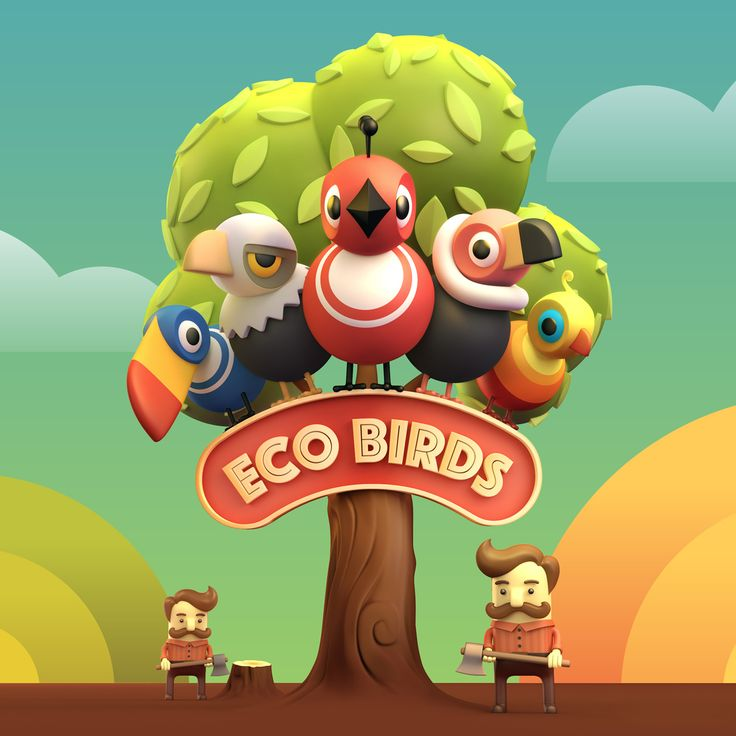 Eco Birds on Behance
