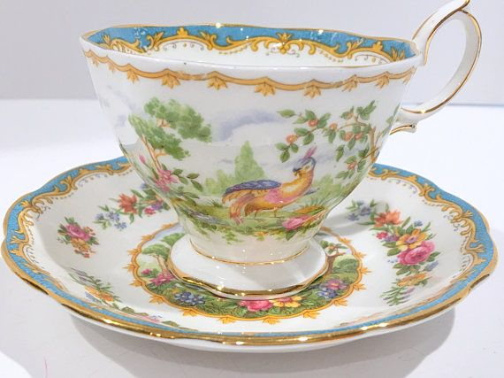 Tazza+di+tè+di+Chelsea+Bird+Royal+Albert+tè+tazza+e+piattino