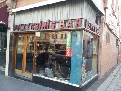 A little piece of Italy. Pellegrini's espresso bar Burke at melb !