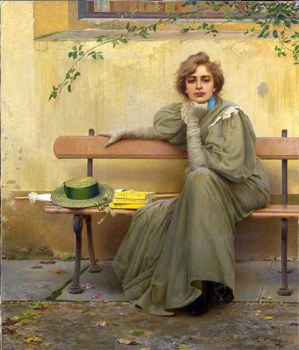V. Corcos, Sogni, 1896, Galleria Nazionale d'Arte Moderna e Contemporanea di Roma