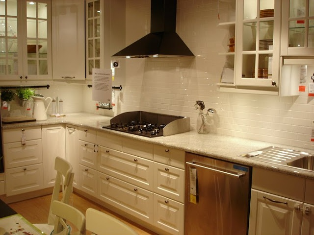 Lovely Black Glass Kitchen Cabinets