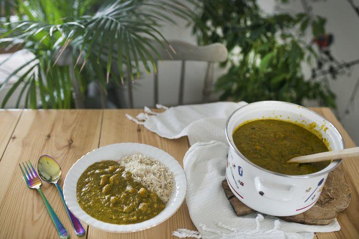 Curry z dyni z masłem orzechowym
