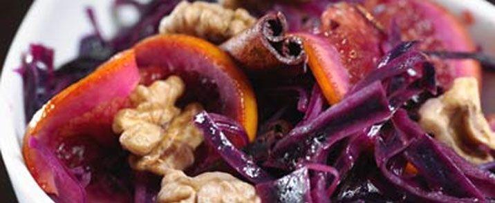 Rødkålsalat med æbler