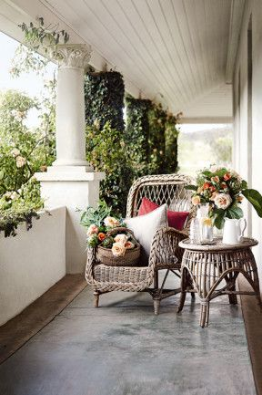 I can imagine sitting on this veranda after a long day and taking in the beautiful country scenery.
