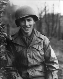 Medal of Honor recipient Walter Elhers, one of just two D-Day recipients who lived. The other seven were awarded posthumously. Walter's brother was also killed in the fighting.