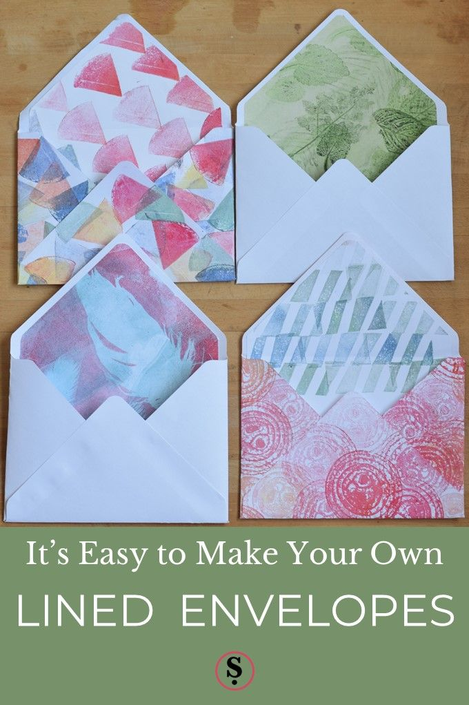 The Easy Way To Make Lined Envelopes Envelope Special Letters