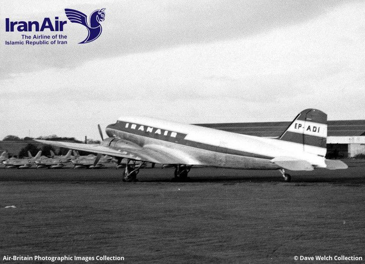 An Iran Air Douglas C-47, Skytrain or Dakota, at Glasgow Airport in 1960 - Iran Air (@IranAir_IRI) | Twitter