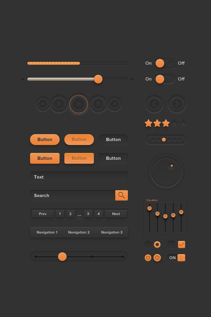 Free Orange UI Kit