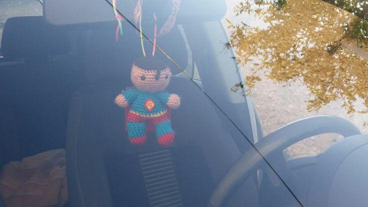 #superman #amigurumi para coche