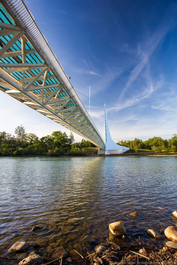 Sundial Bridge in downtown Redding, CA                                                                                                                                                                                 More