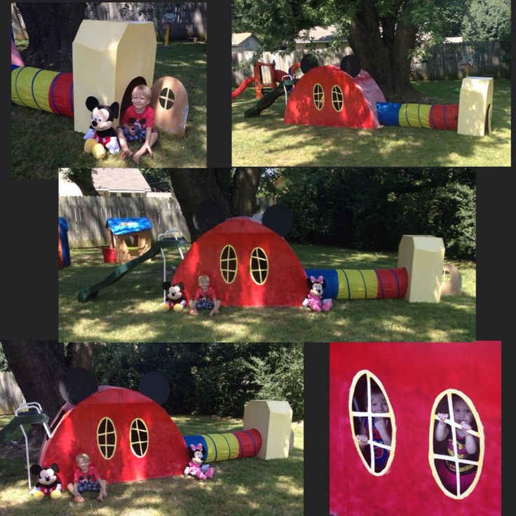 25 best ideas about mickey mouse playhouse on pinterest for Diy clubhouse