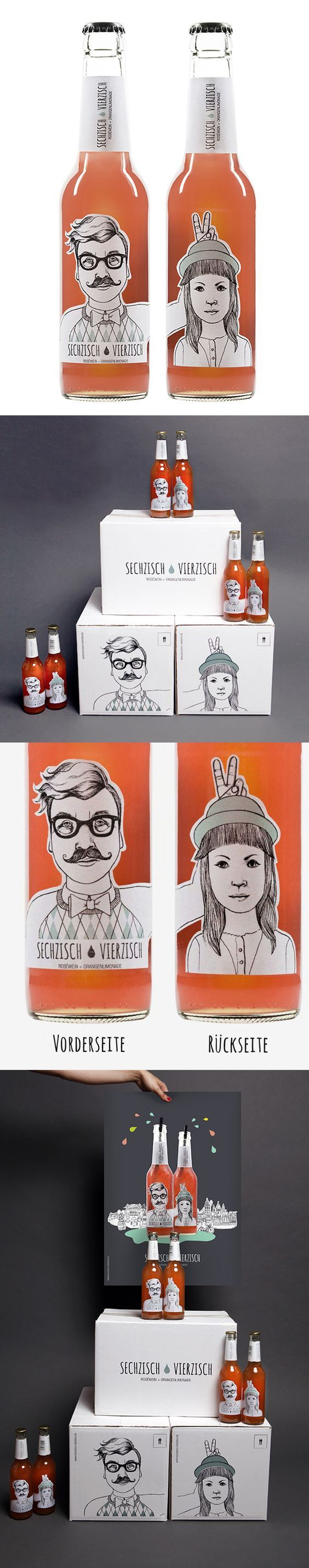 This #creative packaging #design and bottle #labels stand out in a sea of seamness. Get inspired by these gorgeous #illustrations.