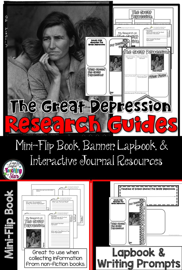 the great depression research interactive journals social the great depression research interactive journals social studies and mini books