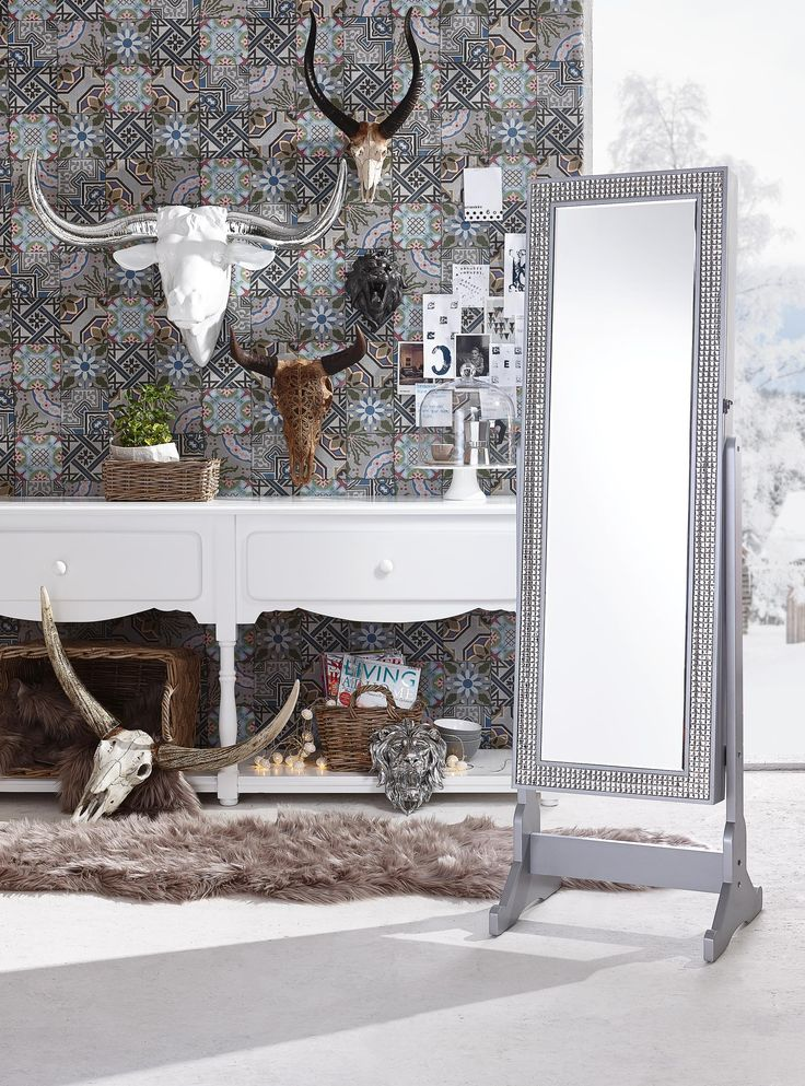 Vintage Wand Deko mit rustikalem Charme ein Stierkopf f r Ihre W nde