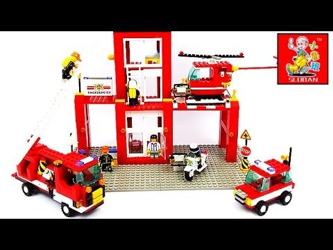 Пожарная станция лего. Конструктор Sluban М38-В3100 Пожарная Команда. Ле...