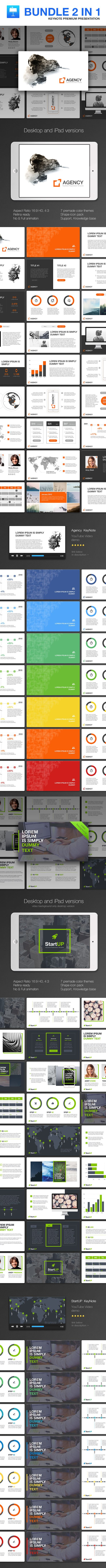 Bundle 2 in 1 KeyNote - Keynote Templates Presentation Templates