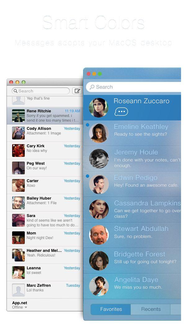 Messages.app Concept on Behance