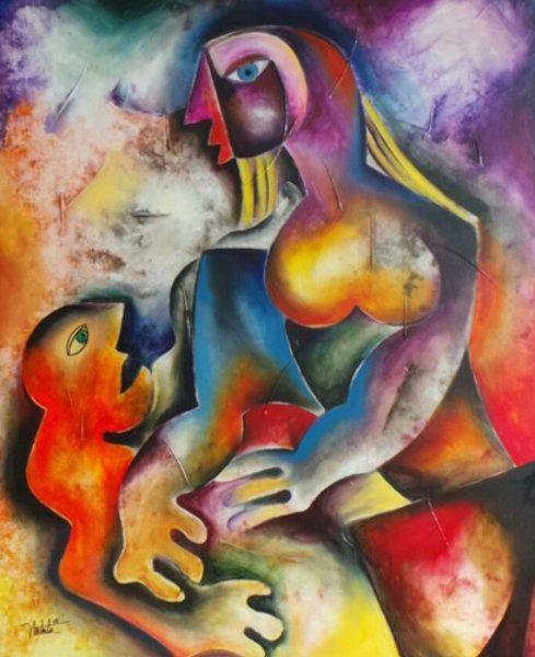 "Original Painting ""Virtue of Patience 2012 42x36"" by Alexandra Nechita"