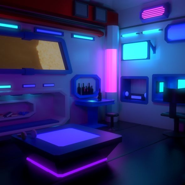 Cyberpunk Room Cool Room Designs Vintage Living Room Arcade Game Room