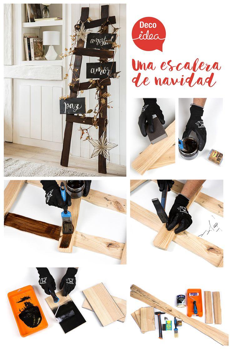 ¡Crea tu propia escalera navideña! ¿Te animas a hacerla?