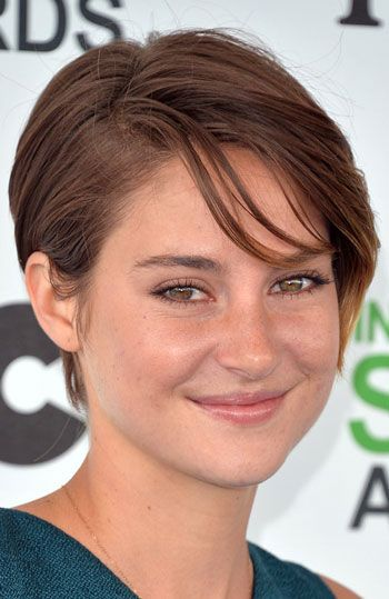 Shailene Woodley's Pixie with Side Bangs Hairstyle