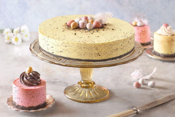 Bodkovaný mini vajíčkový oreo cheesecake