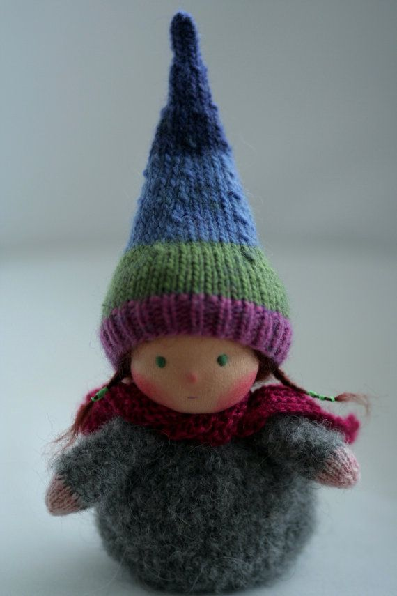Knitting Pattern For Gnome Hat : Knitted Waldorf gnome doll 6