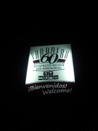 Varadero 60 - Front Sign at Night