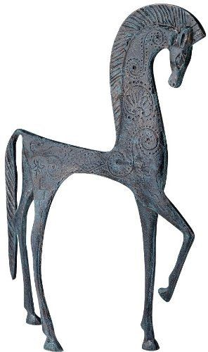 "10.5"" Hellenistic Classic Greek Ironwork Horse Statue Sculpture Figurine http://www.pinterest.com/litsa1163/%CE%B9%CF%83%CF%84%CE%BF%CF%81%CE%B9%CE%B1-history/"