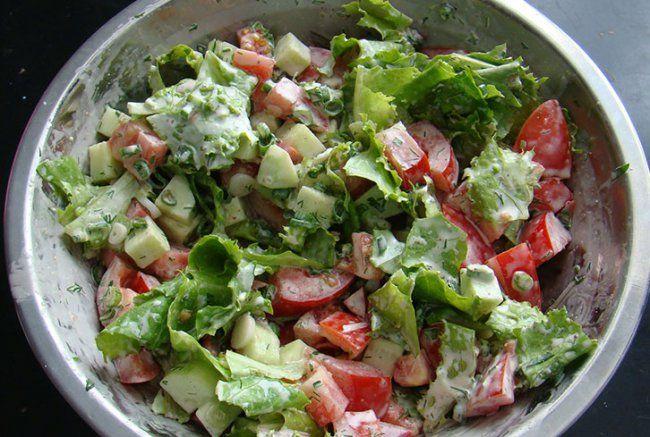 Быстрый салат на праздник